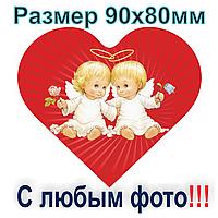 Магнит на холодильник виниловый Сердце 90х80 мм