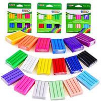 Глина полимерная-пластилин - 6 цветов - 3 вида цветов в наборе : КЛАССИЧЕСКИЙ, НЕОНОВЫЙ, ПАСТЕЛЬНЫЙ, 20гр*6шт.