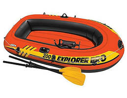 Лодка трех 3 местная + насос + весла в комплекте универсальная
