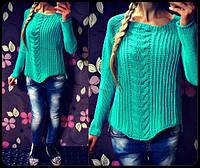 Женский стильный вязанный свитер (2 цвета)