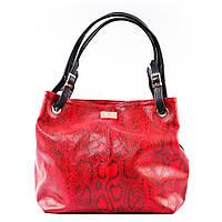 Красная сумка мешок красочный стильный питон