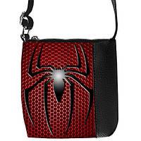 Стильная черная сумкочка для мальчика с принтом Спайдермен