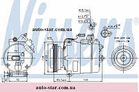 Компрессор кондиционера Audi A4,S4,A6 ,Volkswagen Passat V (B5)  (пр-во NISSENS 89027)