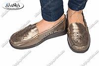 Женские туфли бронзовые (Код: 1-11В)