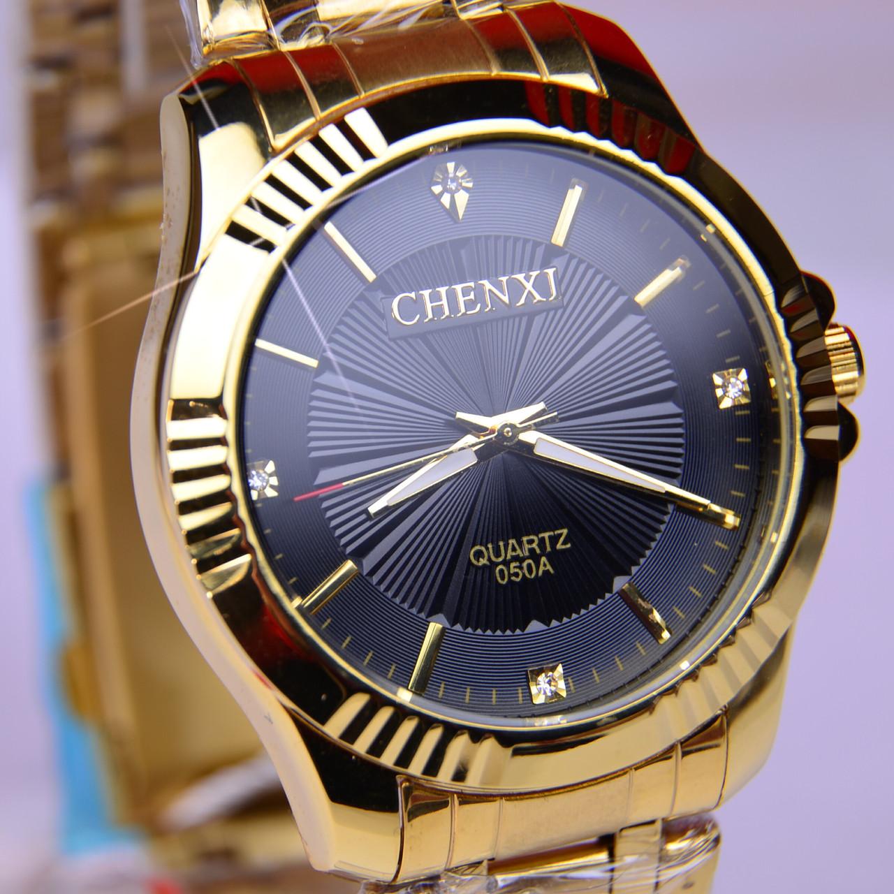 Мужские часы CHENXI CX-050G Gold