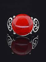 029422-180 Кольцо Коралл (серебро)