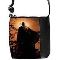 Модная черная сумка для мальчика с принтом Бэтмен