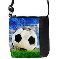 """Черная детская сумка для мальчика с принтом """"футбольный мяч"""""""