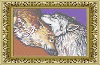 ЛВТ-11. Схема для вишивки бісером Пара вовків (кругова вишивка)