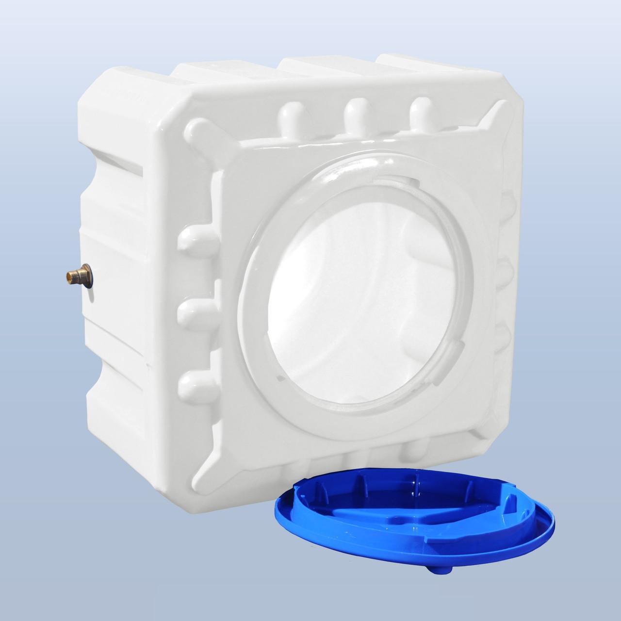 Пластиковый бак Euro Plast квадратный (куб) 200 литров EК 200
