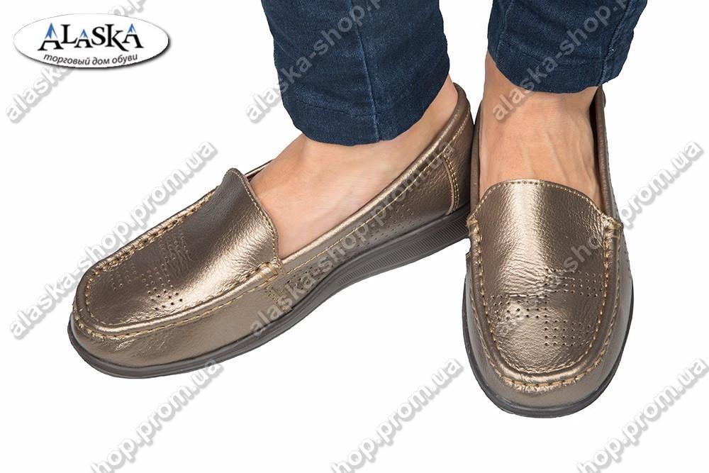 Женские туфли бронзовые (Код: 1-12В)