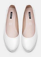 Женские модные комфортные белые балетки, эко-кожа Vices