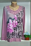 Блуза женская в цветок большие размеры, фото 1