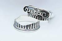 Кольцо двойное серебряное Римская Колонна