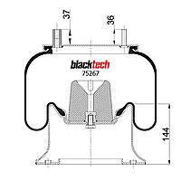 Пневмоподушка FRH/SMB/ROR RML75267C6 (BLACKTECH)