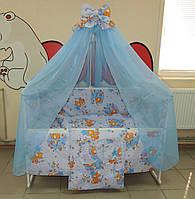 Готовый набор для сна, Детская кроватка дерево + все необходимое для сна! 16 предметов.