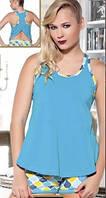 Комплект женского белья (майка + шорты) Blue
