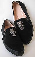 Philipp Plein женские стильные замшевые слипоны! обувь, туфли, слиперы