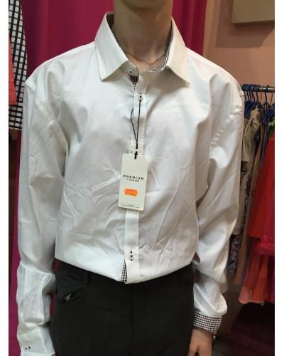Рубашка белая мужская Jack&Jones