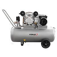 Компрессор Sigma 7044151 двухцилиндровый ременной (2,5 кВт, 396 л/мин, 100 л)