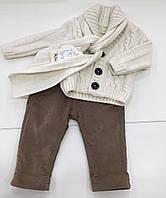 Детский костюм - вязаная кофта , брюки ,  шарф для мальчика на 0- 3 месяца ,  9-12 месяцев,  на 1 год