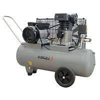 Компрессор Sigma 7044121  ременной двухцилиндровый (2,5 кВт, 335 л/мин, 50 л)