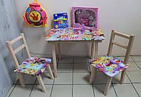 Детский стол и два стульчика с рисунками Принцесса Винкс