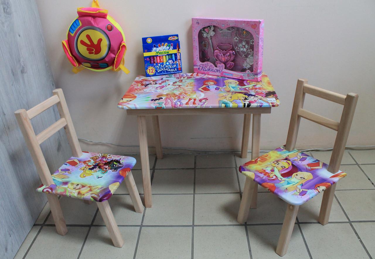 Детский стол и два стульчика с рисунками Принцесса Винкс - Style-Baby детский магазин в Киеве