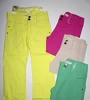 Модные котоновые брюки для девочек