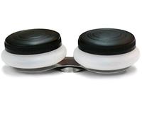 Масленка двойная с пластиковой крышкой 4,5х1,7см, №15004