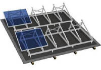 Комплект на плоскую крышу на 24 модуля, фото 1