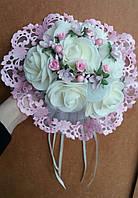 """Свадебный букет-дублёр невесты """"Кружева"""" (розовый)"""