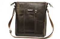 Кожаная мужская сумка Tom Stone L503 коричневая
