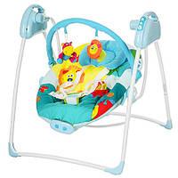 Детская электро качель M 2130-4 для новорожденных