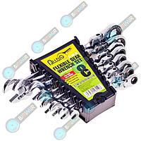 Набор ключей комбинированных трещоточных с карданом Alloid 8 – 19 мм 8 пр.