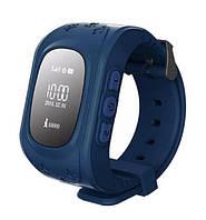 Оригинал! Умные часы Q50, Smart Baby Watch Q50 c GPS трекером Синий