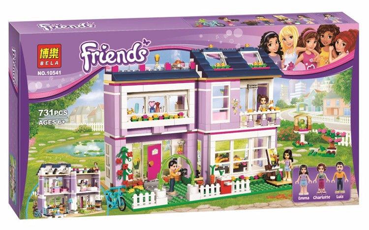 Конструктор Friends 10541 Дом Эммы (аналог Lego 41095)