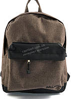 Спортивный качественный рюкзак с жесткой спинкой WALLABY art. 1351 светло коричневый джинс