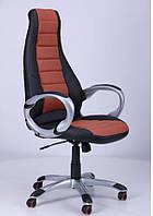 Кресло Форс СX 0678 Y10 Черный/вставка Коричневый