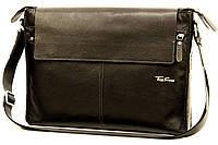 Кожаная мужская сумка Tom Stone L504 черная