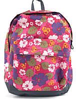Спортивный качественный женский рюкзак с жесткой спинкой WALLABY art. 1354 цветочки, фото 1