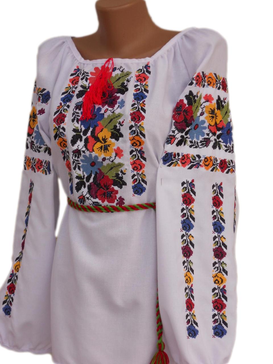 "Жіноча вишита сорочка (блузка) ""Кассі"" (Женская вышитая рубашка (блузка) ""Касси"") BN-0033"