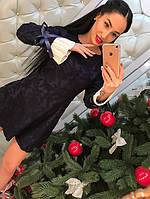 Женское модное кружевное платье с манжетами плиссе (3 цвета)