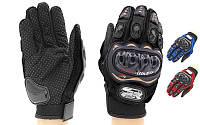 Мотоперчатки PRO BIKER BC-3902-XL (PL,PVC,эластан, закрытые пальцы,р-р XL, черный,синий, красный)