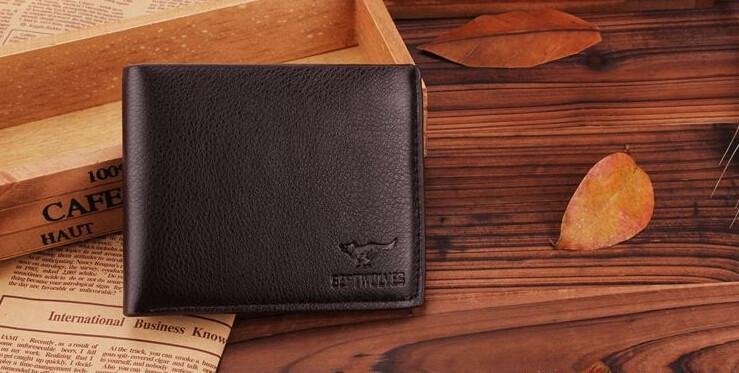 Мужской кошелек натуральная кожа (темно коричневый)