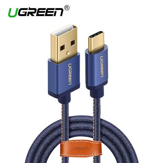 Ugreen джинсовый кабель Type-C - USB 2.0 для зарядки и синхронизации