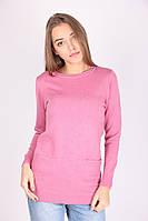 Розовая  женская кофта с карманами