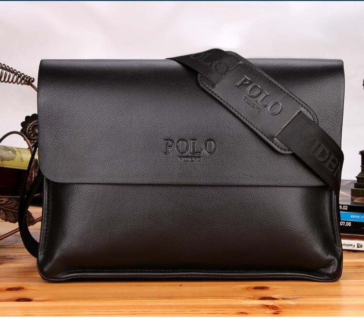Сумка Polo Videng мужская для документов черная