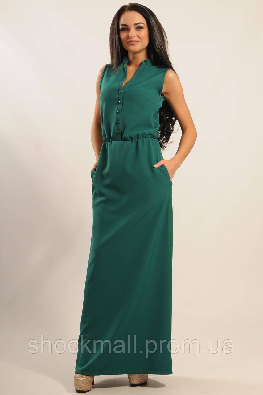 14e9817da86 Платье длинное зеленое