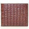 Мужской кошелёк из кожи крокодила (ALM 7T Brown)